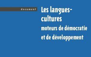 Vient de paraître : «Les langues-cultures moteurs de démocratie et de développement»
